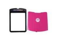 Geam cu capac baterie Motorola RAZR V3 roz