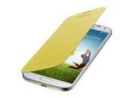 Husa piele Samsung I9500 Galaxy S4 EF-FI950BY galbena Blister Originala