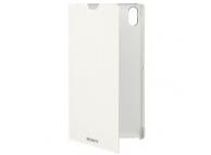 Husa piele Sony Xperia T3 SCR16 alba Blister Originala