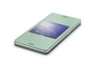 Husa piele Sony Xperia Z3 SCR24 verde Blister Originala