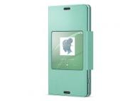 Husa piele Sony Xperia Z3 Compact SCR26 verde Blister Originala