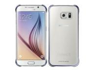 Husa plastic Samsung Galaxy S6 G920 Clear Cover EF-QG920BBEGWW Bleumarin Blister Originala