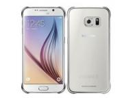 Husa plastic Samsung Galaxy S6 G920 Clear Cover EF-QG920BSEGWW argintie Blister Originala