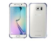 Husa plastic Samsung Galaxy S6 edge G925 Clear Cover EF-QG925BBEGWW Bleumarin Blister Originala