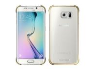 Husa plastic Samsung Galaxy S6 edge G925 Clear Cover EF-QG925BFEGWW aurie Blister Originala