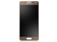 Display cu touchscreen Samsung Galaxy Alpha G850 auriu