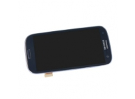 Display cu touchscreen si rama Samsung I9305 Galaxy S III bleumarin