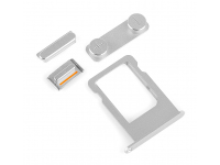 Set butoane laterale si suport SIM Apple iPhone 5s argintiu