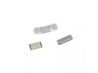 Set butoane laterale Apple iPhone 5 argintiu