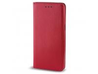 Husa piele Samsung Galaxy Grand Prime G530 Case Smart Magnet rosie