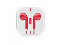 Handsfree Apple iPhone 5 rosu Blister