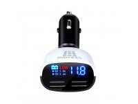 Adaptor auto Dual USB Haweel Quick Charge 3.4A cu afisaj Blister Original