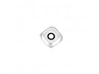 Geam camera spate alb cu rama argintie alba Samsung Galaxy S6 edge G925