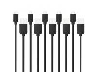 Set cablu de date Apple iPhone 6 Haweel (5 bucati) Blister Original