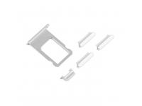 Set butoane laterale si suport sim Apple iPhone 6s argintiu