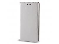 Husa Piele Samsung Galaxy J5 (2016) J510 Case Smart Magnet argintie