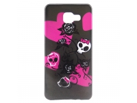 Husa silicon TPU Samsung Galaxy A7 (2016) A710 Flowers and Skull