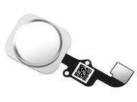 Buton meniu cu senzor si banda Apple iPhone 6s alb argintiu