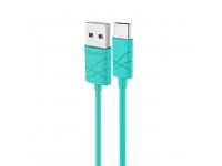 Cablu date USB - USB Type-C Usams U-Gee turquoise Blister Original