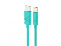 Cablu de date Apple iPhone 5 Usams U-Gee turquoise Blister Original