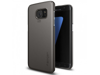 Husa plastic Samsung Galaxy S7 edge G935 Spigen Thin Fit 556CS20030 gri Blister Originala