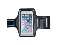 Husa Armband Sport, dimensiuni 155 x 85 x 10 mm, Premium, Neagra