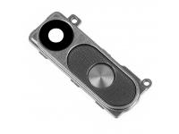 Geam camera spate negru cu rama si butoane gri LG G3