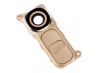 Geam camera spate Cu Rama Si Butoane Aurii LG G4