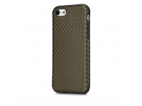 Husa silicon TPU Apple iPhone 7 Rock Carbon Fibre Maro Blister Originala