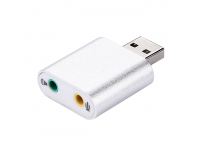 Placa De Sunet USB Virtual 7.1 CZH-H077 Argintie