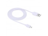 Cablu de date MicroUSB Haweel High Speed 1m Alb Blister Original