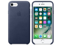 Husa Piele Apple iPhone 7 MMY32ZM Bleumarin Blister Originala