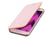 Husa Samsung Galaxy A5 (2017) A520 EF-FA520PPEGWW Neon Flip Roz Blister Originala