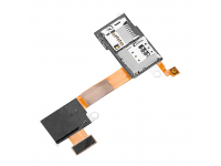 Banda cu modul cititor SIM - Modul cititor card - buton on - off microcontact Sony Xperia M2