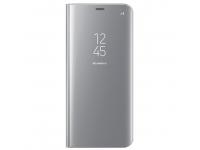 Husa plastic Samsung Galaxy S8+ G955 Clear View EF-ZG955CSEGWW Argintie Blister Originala