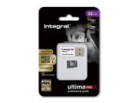 Card memorie Integral UltimaPROX MicroSDHC 32GB Clasa 10 UHS-1 si cititor card Blister