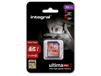 Card memorie Integral UltimaPROX SDHC 32GB Clasa 10 UHS-1 Blister