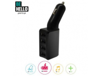 Adaptor auto 4 x USB BeHello 6.8A Blister Original