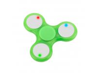 Fidget Spinner Antistres Led verde Blister