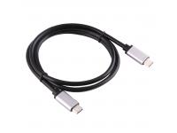 Cablu Date USB Type-C 1m Negru Argintiu 1m