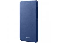 Husa piele Huawei P8 Lite (2017) Flip 51991960 Albastra Blister Originala