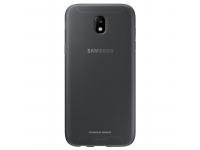 Husa Silicon TPU Samsung Galaxy J5 (2017) J530 Jelly Cover EF-AJ530TBEGWW Gri Transparenta Blister Originala