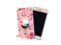 Husa Apple iPhone 7 3D Squishy Lovely Panda roz