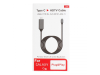 Cablu Audio-Video USB Type-C la HDMI, 2m, Negru-Gri, Blister