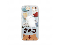 Husa silicon TPU Apple iPhone 6 Plus 3D Squishy Lovely Cat bleu