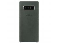 Husa Samsung Galaxy Note8 N950 Alcantara EF-XN950AKEGWW Kaki Blister Originala