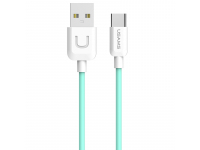 Cablu de date USB - USB Type-C Usams U Turn SJ099 Turquoise Blister Original