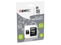 Card memorie Emtec Silver MicroSDHC 8GB Clasa 4 Blister