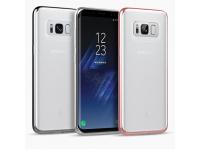 Husa silicon TPU Samsung Galaxy S8 G950 Anymode Bling Argintie Blister Originala