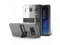 Husa Plastic Samsung Galaxy S8 G950 Anymode Kick Tok Transparenta Neagra Blister Originala